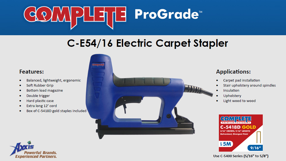 Complete Electric Carpet Tacker Use